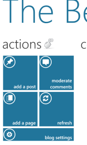Screenshot of the Actions Dashboard