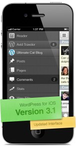 Version 3.1 of WordPress for iOS: Updated Interface