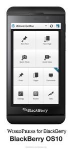 WordPress for BlackBerry OS10