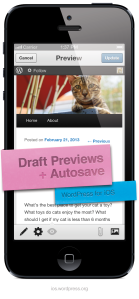 Version 3.5 of WordPress for iOS: Draft Previews + Autosave