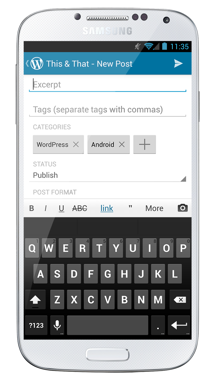 WordPress com Apps - More Control over Mobile Posting