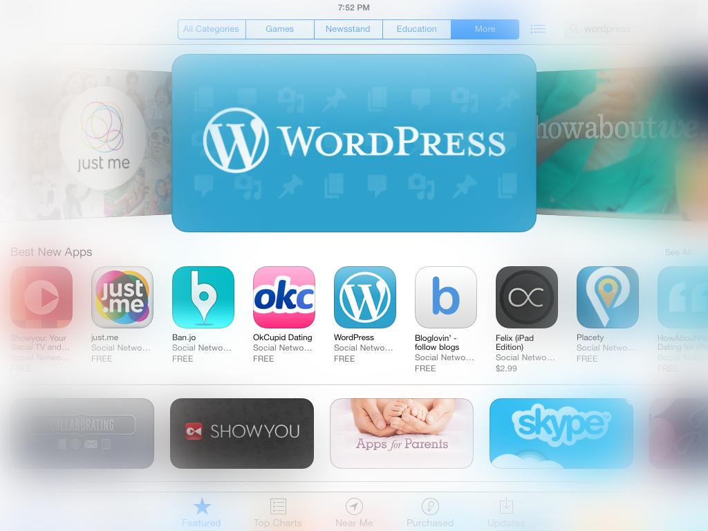 WordPress com Apps - WordPress Featured in 90+ App Stores