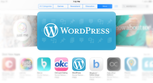 WordPress for iOS featured in the US App Store on September 20, 2013