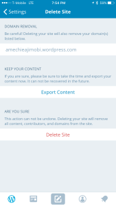 You can choose to keep all your content when deleting a site.